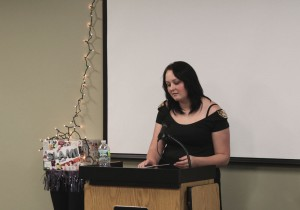 Here's the winner, Julia Alexander, a senior at Somers High School, performing her poem.