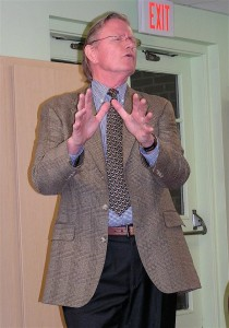 Denis Horgan at Tolland Public Library on Sept. 12, 2013
